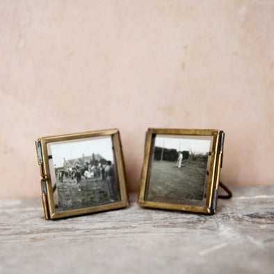 Mini Brass Picture Frames Set of 2