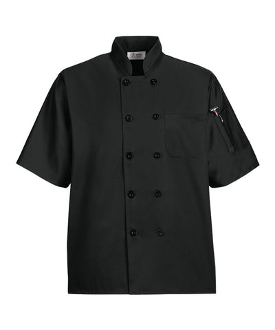 Black Short Sleeve Production Coats from Happy Chef