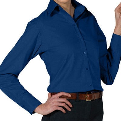 Ladies Long Sleeve Button Down Shirt