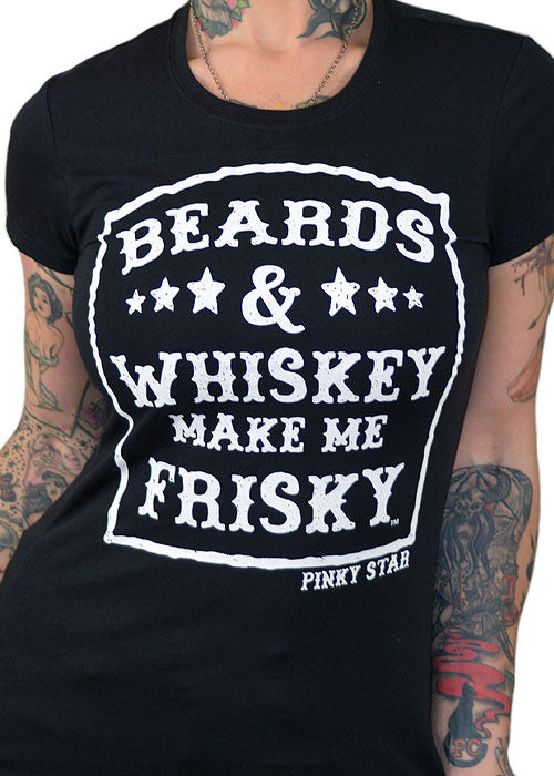 beards and whiskey make me frisky - pinky star