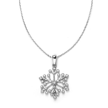 Winter Wedding Cubic Zirconia Snowflake Necklace Pendant - Marry Me Wedding Accessories & Gifts