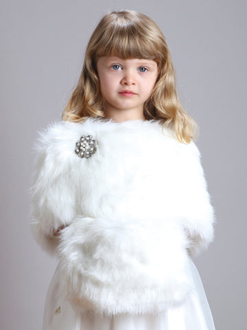Child's Ivory Faux Fur Hand Muff for Winter Weddings - Marry Me Wedding Accessories & Gifts