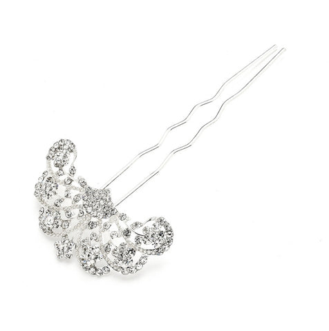 Glamorous Gatsby Fan Shaped Crystal Prom or Wedding Hair Stick Pin - Marry Me Wedding Accessories & Gifts