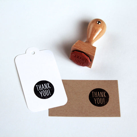 "Contemporary ""Thank You"" Rubber Stamp - Marry Me Wedding Accessories & Gifts"