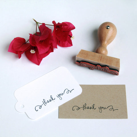 "Calligraphy ""Thank You"" Stamp - Marry Me Wedding Accessories & Gifts"