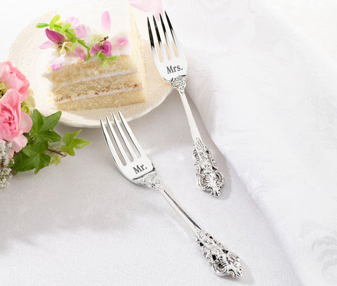 Mr. and Mrs. Silver Forks Set - Marry Me Wedding Accessories & Gifts