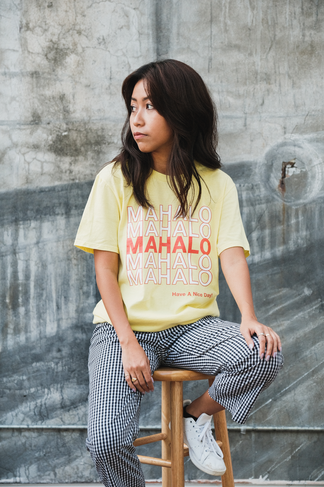 Mahalo T-Shirt in Yellow