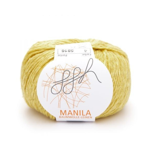 Manila 004, yellow, Cotton, Linen & Viscose blend, 50g, - I Wool Knit