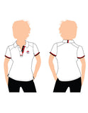 ERA Ladies White Lycra Polo Tee