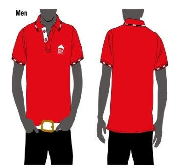 ERA Red Jacquard Dri Fit Polo Tee (Men)