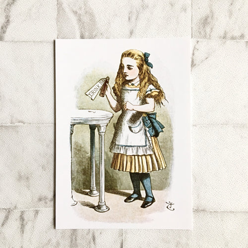 Alice In Wonderland Postcard -  'Drink Me' Illustration