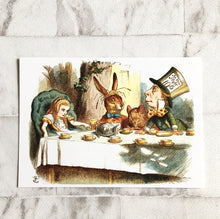 Alice In Wonderland Postcard -  Tea Party Illustration