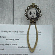Shakespeare Bookmark - Vintage Bronze & Glass - Literary Gift - Literary Quote - Nabu - Literary Gifts For Book Lovers
