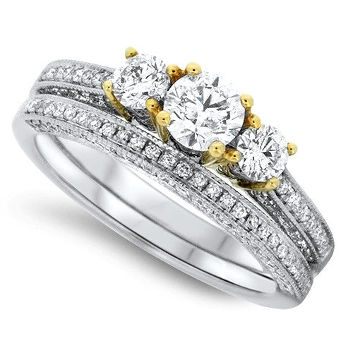 Endearing & Enchanting Diamond Wedding Set