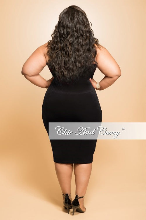 Final Sale Plus Size BodyCon Strapless Dress in Black (Seasonal Item)