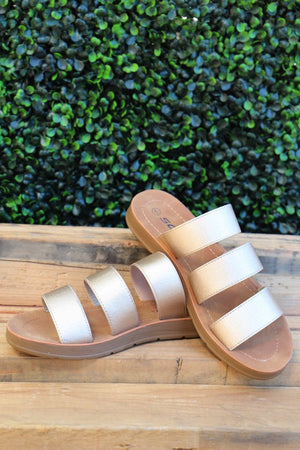 Hope Sandals: Gold - ShopSpoiled