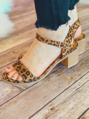 Jeanie Heeled Sandals: Leopard - ShopSpoiled