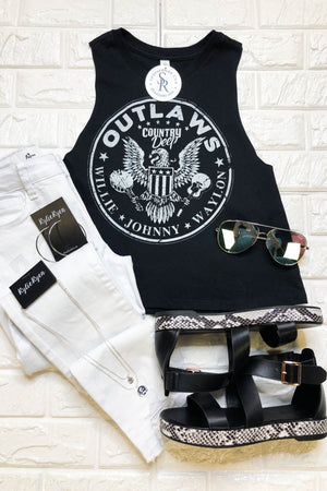 Outlaws Crop Top - ShopSpoiled