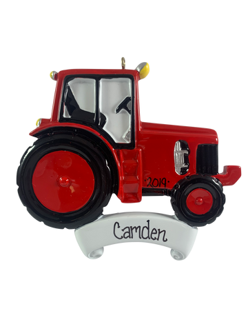 Farm Tractor Red - Made of Resin