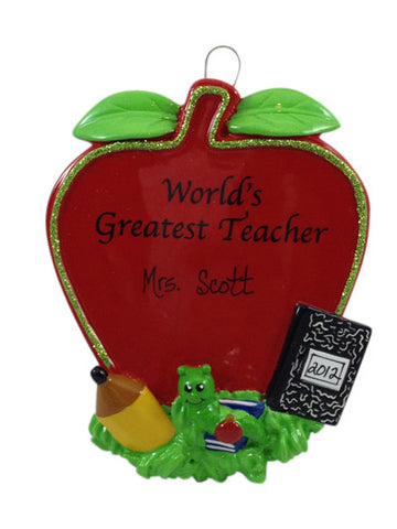 World's Greatest Teacher - Made of Resin