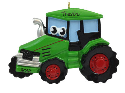 Tractor with Face - Made of Resin