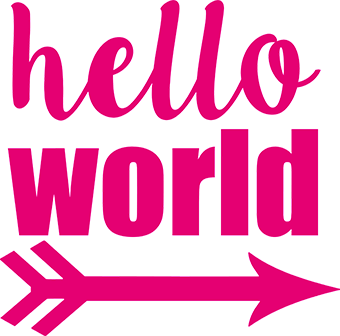 Hello World Arrow - Hot Pink - Gigi and Max