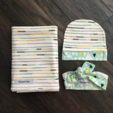"Stripe Swaddle - 34""x34"" Gender Neutral - Gigi and Max"