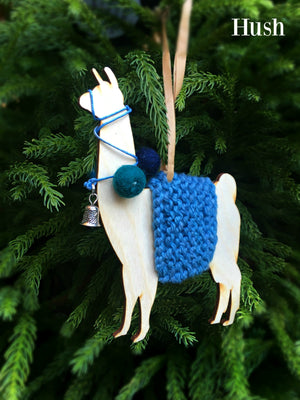 Holiday Decorations Llamas in Traditional Dress