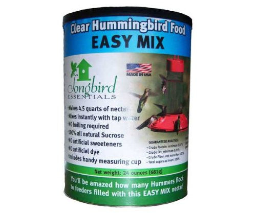 Easy-Mix Clear Hummingbird Food 24 oz - Feathered Friends of Santa Fe (www.ffofsf.com)