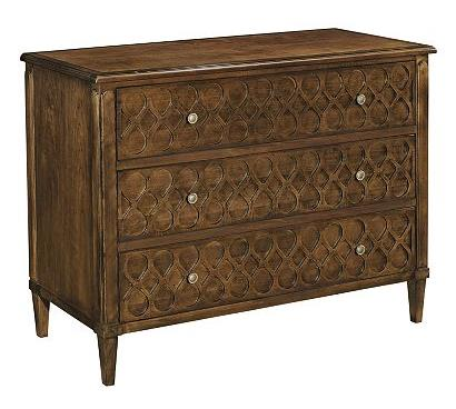 Murano Three Drawer Chest with Wood Top