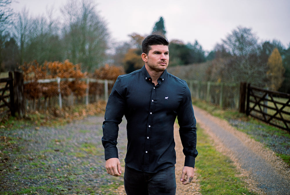 fashion meets form. shirts, jeans and chinos made exclusively for bodybuilders