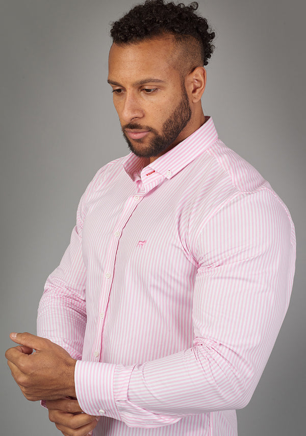 pink orchid muscle fit shirt for bodybuilders and athletes