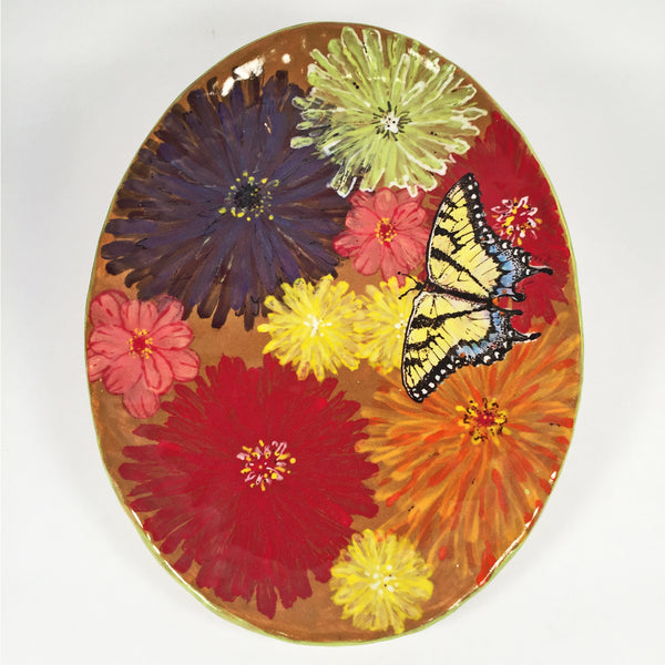 ARTISAN CERAMIC PAINTED PLATES-Colorful Hand Painted Original Designs!