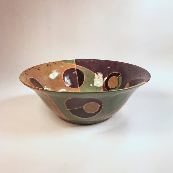 "Designer Ceramic Bowl ""My Purple Universe""/Must See Exquisite Bowl!"