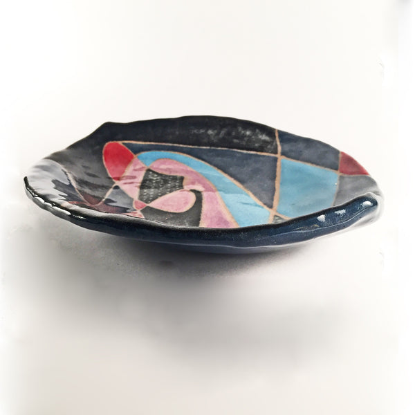 Handcrafted Ceramic Dishes-Shaped & Hand painted Explosions of Color!
