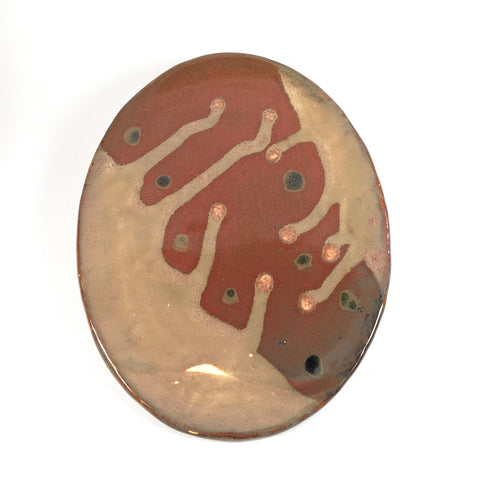 Handcrafted Ceramic Plate/Exotic, leaf-inspired design. Food-safe/Deco