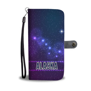 Alaska Galaxy Flag Wallet Phone Case