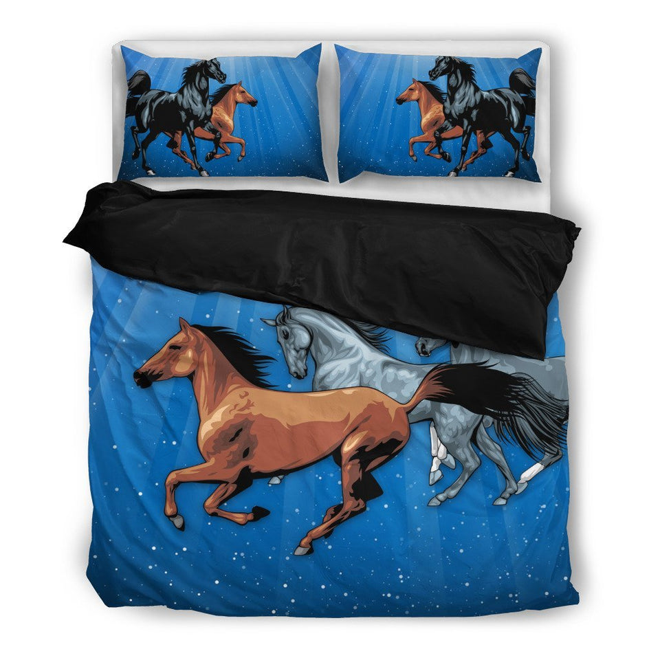 Brown Horses Duvet Cover Bedding Set