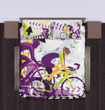 Road bike cycling bicycle Duvet Cover Bedding Set