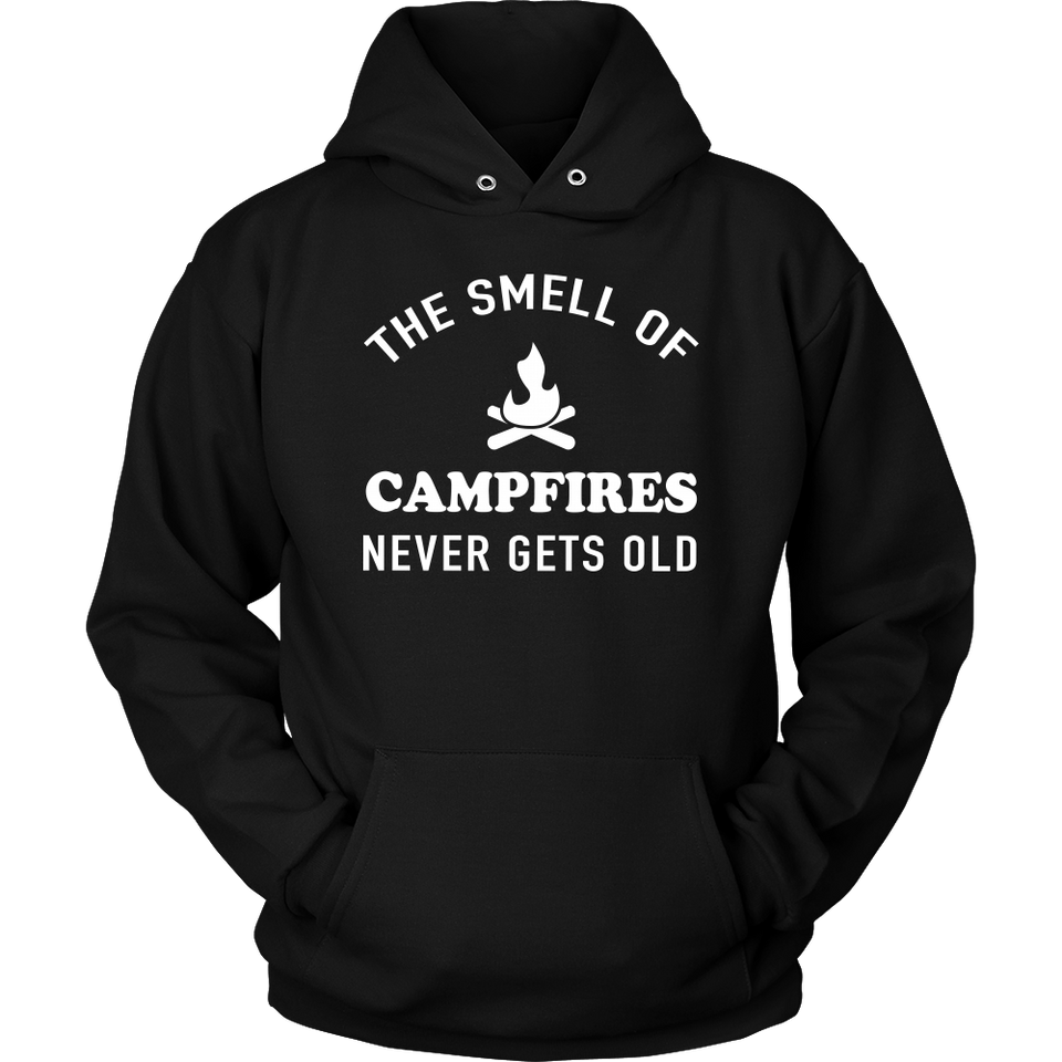 Shirt smell of campfires never gets old camp1098