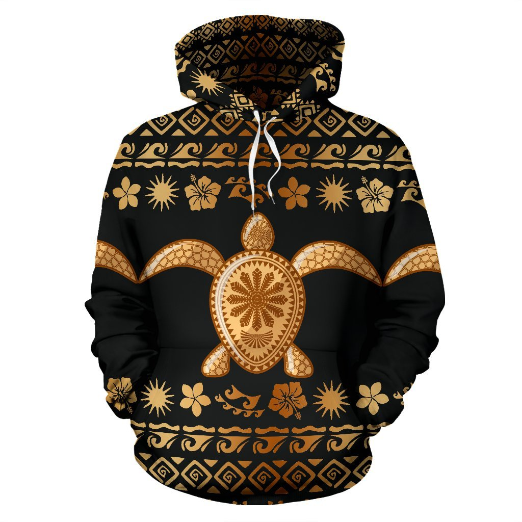 Tribal Sea turtle Polynesian Hawaiian Pullover Hoodie