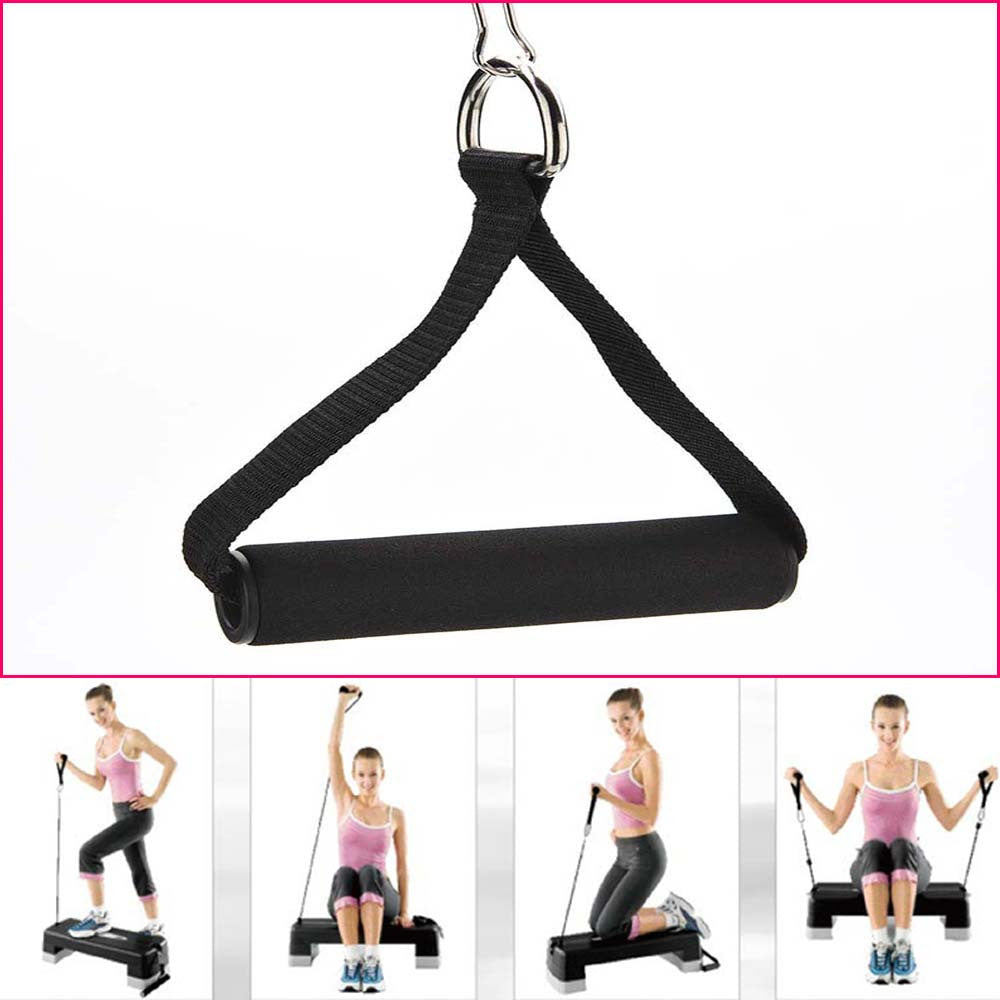 Hot 1 Piece Tricep Rope Attachment Bar Dip Station Resistance Fitness Exercise Gym Free Shipping