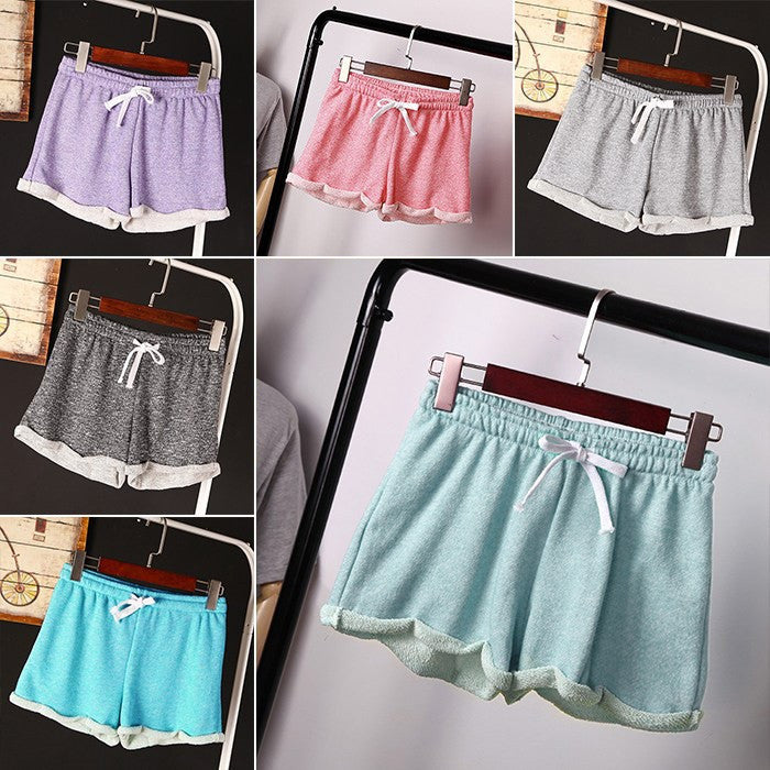 Free Shipping Summer Running Shorts Women Casual Loose Sport Gril Elastic Waist Shorts Femininos Asian/Tag Size S,M,L