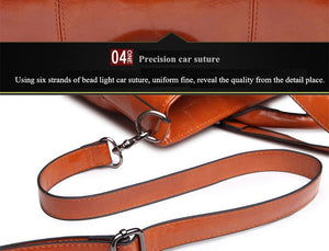 2016 New Fashion Genuine Leather bags Tote Women Leather Handbags Women Messenger Bags Shoulder Bags Hot Vintage bags popular