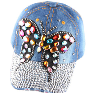 Fashion Adjustable Colorful Crystal Rhinestone Butterfly