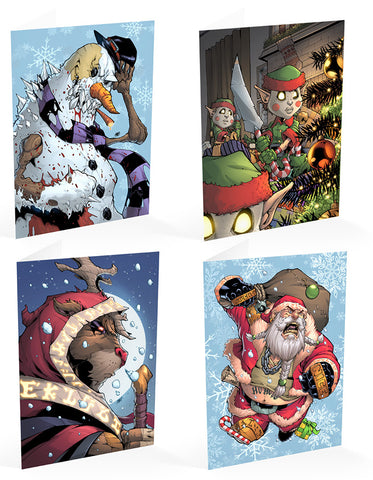 Reckless Christmas Cards - Pack of 4