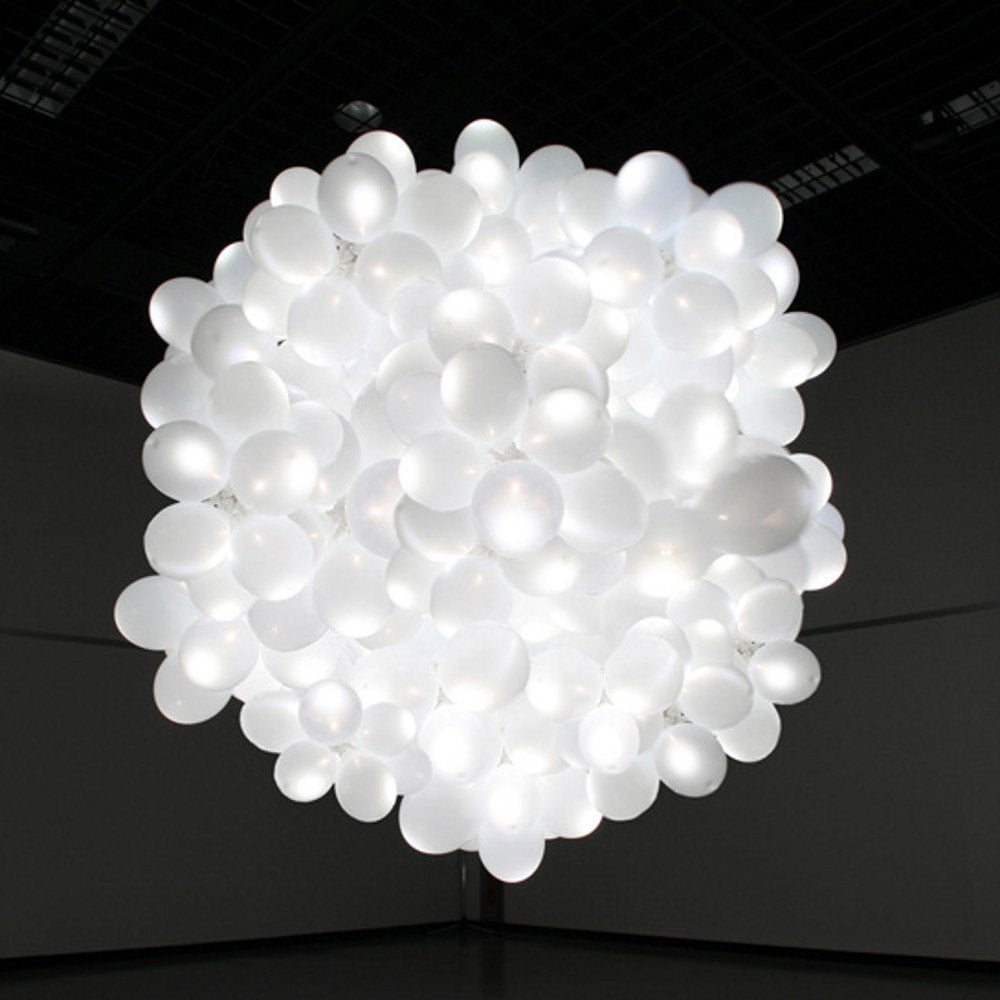 White Led Latex Balloon Helium Inflatable- 50pcs/lot