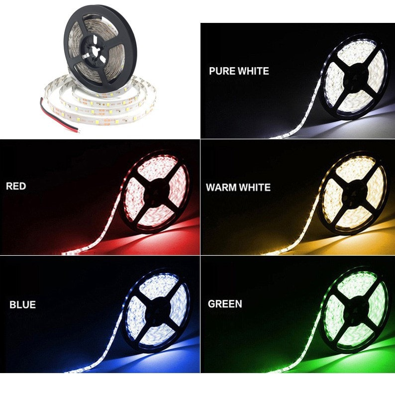 RGB Color LED Flexible Light Strip + 24key IR remote controller + Power Adapter