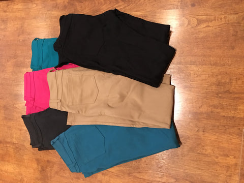 Skinny Colored Jeggings Pants