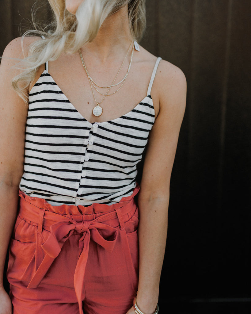 (ONLY 1 LEFT!) Beaches Stripe Tank Top